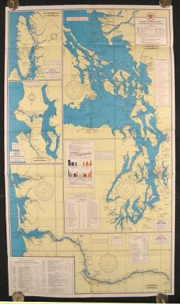 Texaco Cruising Chart. Number 10. Pacific Coast Principal Waterways Puget Sound to San Diego....