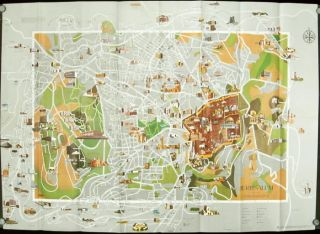 Jerusalem. Amir's Pictorial Map. ISRAEL - JERUSALEM