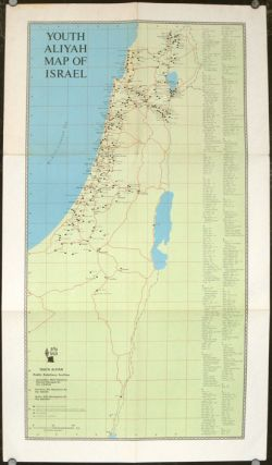 Youth Aliyah Map of Israel. ISRAEL