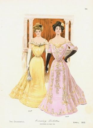 Evening Toilettes. 1900s FASHIONS.