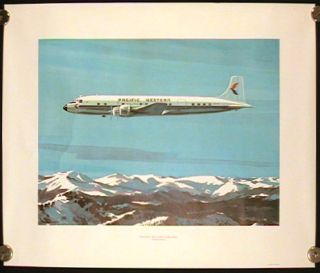 Pacific Western Airlines Douglas DC - 6B. PACIFIC WESTERN