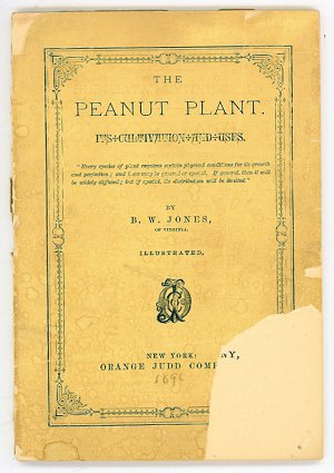 The Peanut Plant. Its Cultivation and Uses. PEANUT, Jones B. W