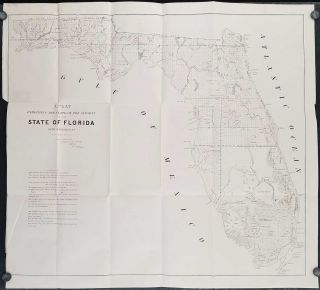 A Plat Exhibiting the State of the Surveys of the State of Florida. 1849. FLORIDA