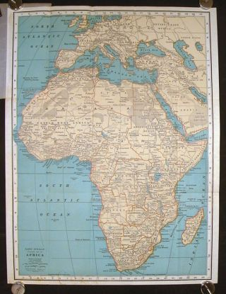 Africa Pocket Map. Showing Political Divisions, Cities and Towns, etc. (Map title: Rand McNally...