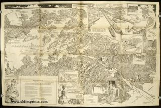 The Panama Canal as seen by Charles H. Owens of the Los Angeles Times Art Staff from a Special...
