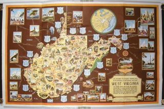 To Insure Pleasant Traveling, in Planning a Vacation Include West Virginia. (Pamphlet title: At the Crossroads of the East...Vacation Map of West Virginia. (Map title: At the Crossroads of the East - Vacation Map of West Virginia).
