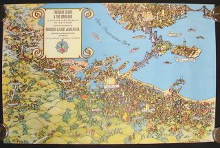 Treasure Island & the Mainland. A Souvenir Cartograph of the Fair in Forty. CALIFORNIA - OAKLAND...