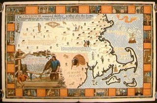 The House Beautiful Old Massachusetts Map of Houses showing their location, type and other...