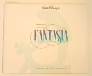 Walt Disney's Fantasia 50th Anniversary Commemorative Program.
