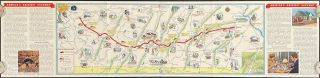 Souvenir Map of the Pennsylvania Turnpike. PENNSYLVANIA - TURNPIKE