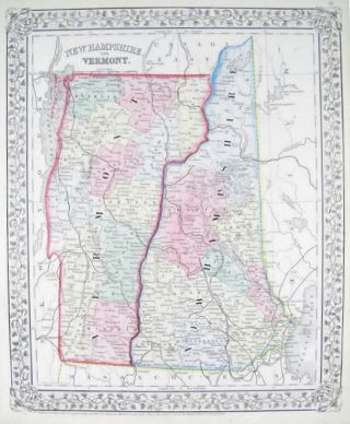 New Hampshire and Vermont. [MAP]. NEW HAMPSHIRE / VERMONT