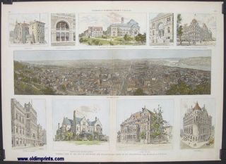 General View of the City of Cincinnati and Characteristic Types of its Architecture