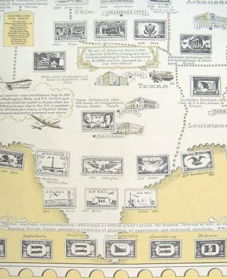 The Pictorial Map. Stamps of the U.S.A. Dedicated to Philatelists Everywhere.