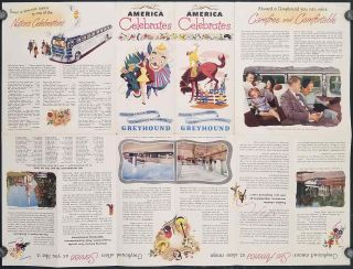 Gay Days Around America. A Pleasure Map of Festivals, Pageants, and Special Events Best Reached by Greyhound...the Nationwide Travel Way! Pamphlet title: America Celebrates.