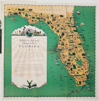 Florida Sports Recreation and Points of Interest. (Pictorial map title: Sights to See and Things...