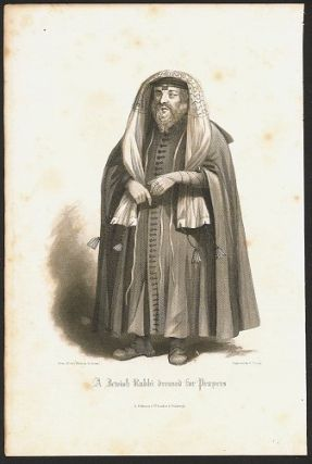 A Jewish Rabbi dressed for Prayers. JUDAISM