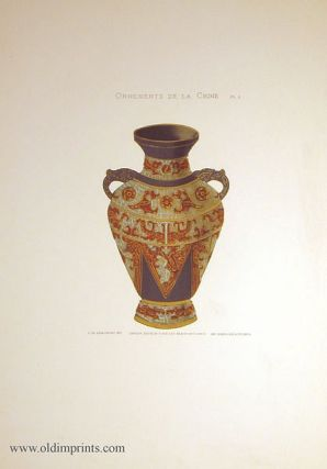 Ornements de la Chine. Plate 6. [Chinese cloisonne vase]. CHINA - DECORATIVE ART.