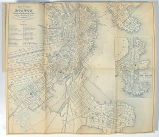 The Boston Almanac for the Year 1860. Number XXV. MASSACHUSETTS - BOSTON ALMANAC WITH MAP,...