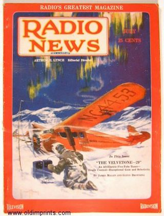Radio News. 1929 - 07. RADIO - AVIATION