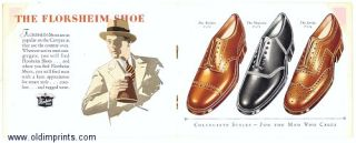 For the Man who cares. Florsheim Styles of the Times. SHOES - FLORSHEIM.