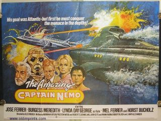 The Amazing Captain Nemo. MOVIE POSTER.