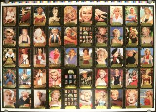 PAIR OF SHEETS of Marilyn Monroe trading cards - uncut, uncirculated . 100 CARDS TOTAL.