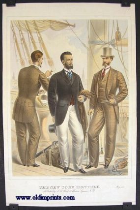 The New York Monthly. May 1875. 1870s FASHION - MEN AT SEA