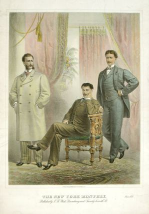 VERY LARGE SIZE MEN'S FASHION: The New York Monthly. June 1878. 1870s FASHION