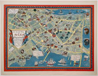 "A Scott-Map of Salem Massachusetts. ""The Wealth of the Indies o the Uttermost Gulf!""..."
