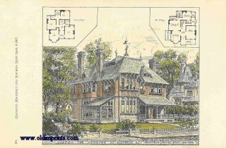 Sketch for Cottage at Pittsmon PA. Bruce Price Arch. 841 Bdwy. New York. ARCHITECTURE - AMERICAN...