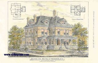 Design for House at Syracuse, N.Y. C.W. Romeyn Archt. ARCHITECTURE - AMERICAN / NEW YORK