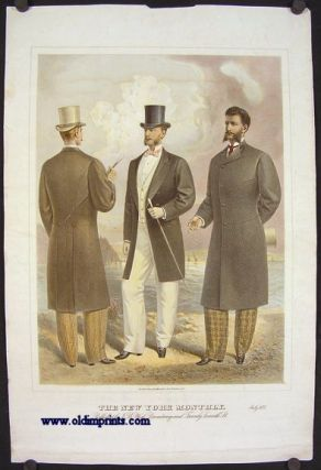 The New York Monthly. July 1877. 1870s MEN'S FASHION
