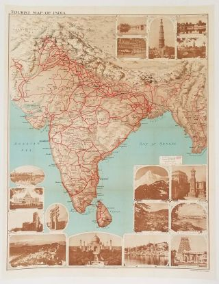 Tourist Map of India. INDIA.