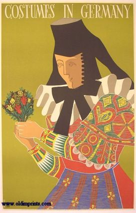 Costumes in Germany. [VINTAGE POSTER]. GERMANY
