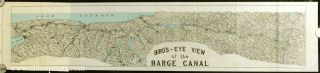 Barge Canal Bulletin. (Map title: Bird's-eye View of the Barge Canal). NEW YORK