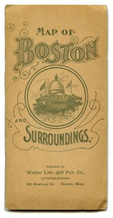 Map of Boston and Surroundings. Map title: Boston and Surroundings.