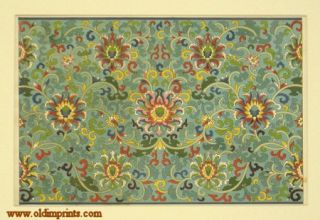 Chromolithograph Chinese Decorative Design. CHINESE ORNAMENT