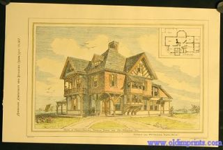 House At Prides Crossing, Beverly Farms. For Geo. A. Goddard Esq. E.C. Cabot and F.W. Chandler...