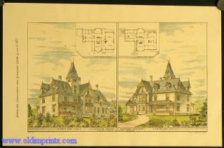 J.J. Dewey's House. Queche Vermont. North East View. South East View. Stephen C. Earle. Architect...