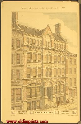 Office Building. R.C. Architect. Broad Street. New York. ARCHITECTURE - AMERICAN / NEW YORK