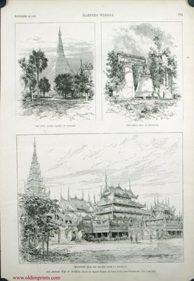 The British War in Burmah. BURMA - ARCHITECTURE