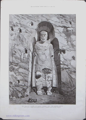 The Rock-Cut Statues of Bamian, Central Asia: The Largest Statue. / The Rock-Cut Statues of Bamian, Central Asia. a. Second Great Statue and Caves. 2. Fourth Statue, with Caves. 3. Painting in Niche of Second Statue. The Second Great Statue.
