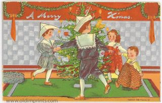 A Merry X'mas. CHRISTMAS POST CARD