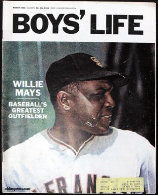 Boys' Life. March 1966. WILLIE MAYS