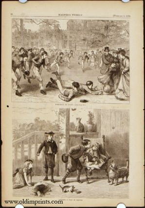 Harper's Weekly. COMPLETE ISSUE. Front cover illustration: Manton Marble. FOOTBALL / BOSTON...