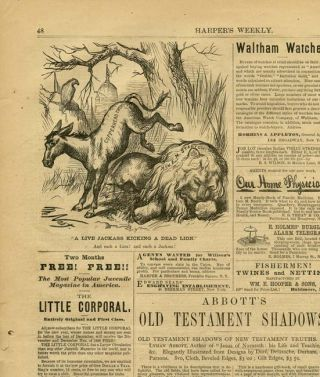 Harper's Weekly. COMPLETE ISSUE, Front cover illustration: Worn Out.