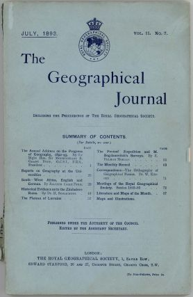 The Geographical Journal. CHINA / TURKESTAN
