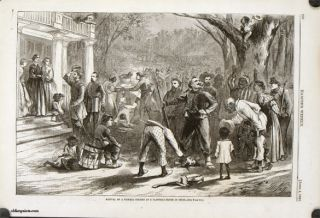 Arrival of a Federal Column at a Planter's House in Dixie. BLACK AMERICANA
