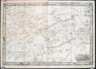 The Pictorial Map of Jerusalem. Map title: Jerusalem. ISRAEL - JERUSALEM