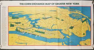 Map of Greater New York. New York World's Fair. Map Title: The Corn Exchange Map of Greater New...